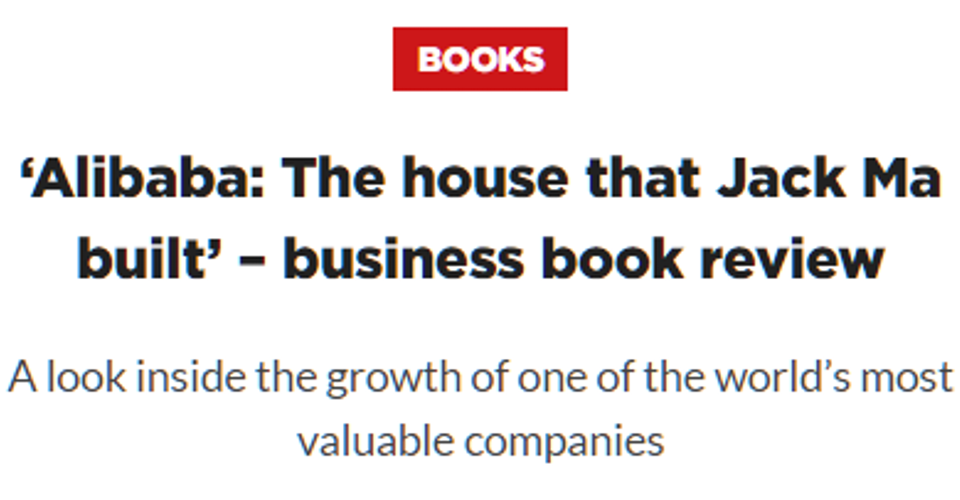 'Alibaba: The house that Jack Ma built' – business book review